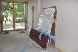 Baufortschritt nach einem Jahr - Raum für die Hortbetreuung