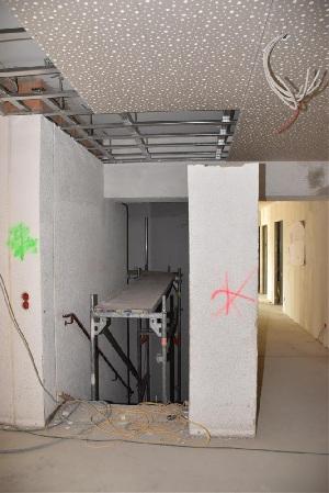 Baufortschritt nach einem Jahr - Treppe
