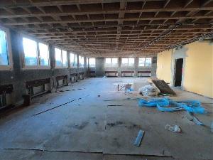 Baufortschritt nach einem Jahr - Sportraum