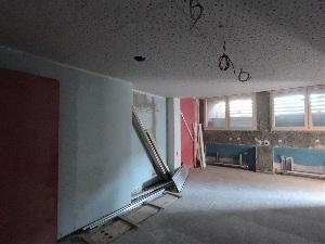 Baufortschritt nach einem Jahr - Jugendraum